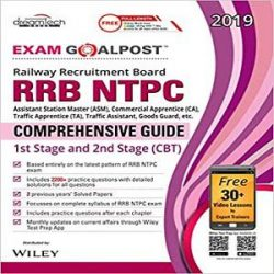 RRB NTPC Exam Goalpost Comprehensive Guide, 1st Stage and 2nd Stage (CBT), 2019 books