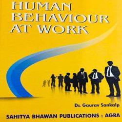 HUMAN BEHAVIOUR AT WORK books