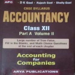 Accountancy Class-12 Vol-2 books