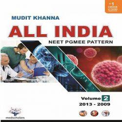 All India NEET Pgmee pattern Volume-2 ( 2013-2009 ) books