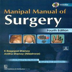 MANIPAL MANUAL OF SURGERY 4ED (PB 2019)