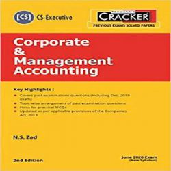 Taxmann's CRACKER-Corporate & Management Accounting books