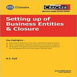 Taxmann's CRACKER-Setting up of Business Entities & Closure books