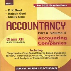 Accountancy Part A- Vol II Class XII books