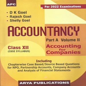 Accountancy Part A- Vol II Class XII