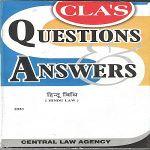 CLA's Question & Answers Hindu Law in [Hindi]-2020
