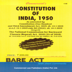 Commercial's Constitution of India, 1950 [Bare Act 2021] books