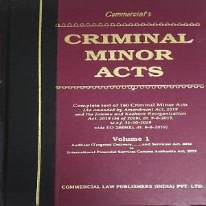 Commercial's Criminal Minor Acts Edition,2020