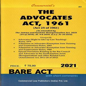 Commercial's The Advocates Act,1961