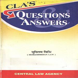 CLA's Question & Answers Mohammedan Law [Hindi]