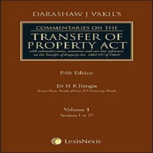 Commentaries on the Transfer of Property Act (Set of 2 Volumes)