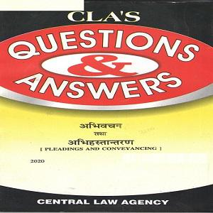 CLA's Question & Answers Pleading and Conveyancing in [Hindi]
