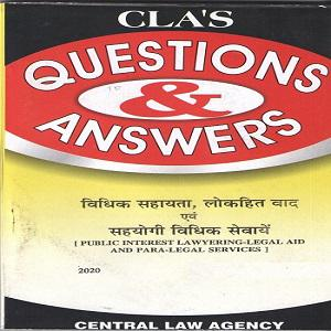 CLA's Question & Answers Public Interest Lawyering Legal Aid and Para Legal Services [Hindi]