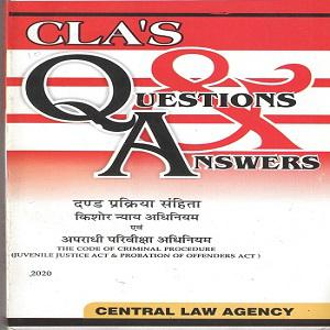 CLA's Question & Answers The code of Criminal Procedure Juvenile Justice Act & Probation of Offenders Act [Hindi]