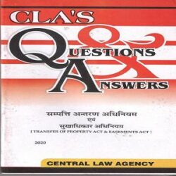 CLA's Question & Answers Transfer of Property Act and Easement Act [Hindi]-2020 books