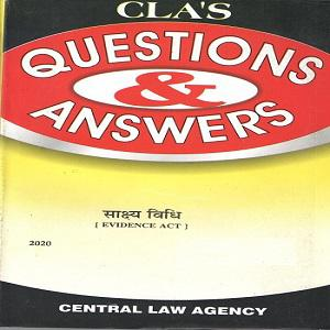 CLA's Quetion & Answers Evidence Act in [Hindi]