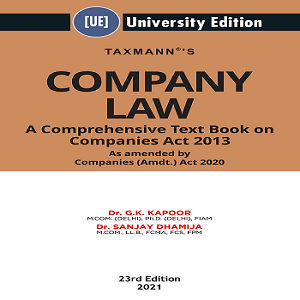Taxman's Company Law A Comprehensive Text Book on Companies Act 2013