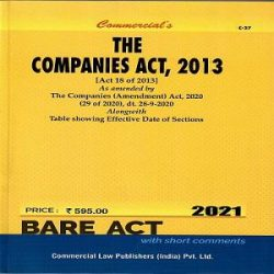 Commercial's The Companies Act 2013 [Bare Act 2021]