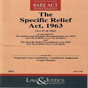 The Specific Relief Act 1963 [Bare Act In English 2021]-L&JP