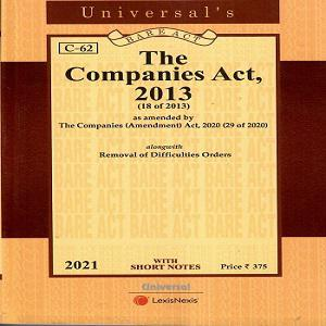 The Companies Act 2013 [Pocket Size Bare Act 2021]