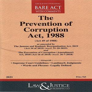 The Prevention of Corruption Act [Bare Act 2021]-L&JP