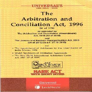 Universal's The Arbitration and Concilation Act 1996 (Bare Act) 2021