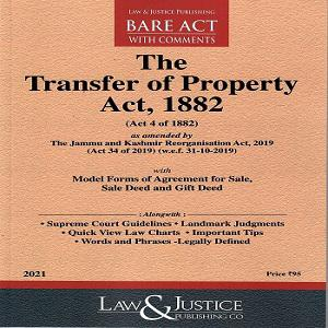 The Transfer Of Property Act 1882 [English Bare Act 2021]-L&JP