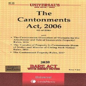 Universal's The Cantonments Act, 2006 (Bare Act) 2020