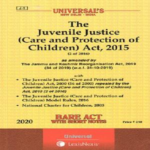 Universal's Juvenile Justice (Care and Protection of Children) Act, 2015 (Bare Act) [2019]