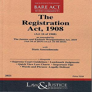 The Registration Act 1908[Bare Act In English 2021]-L&JP
