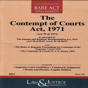 The Contempt of Courts 1971 [Bare Act 2021]-L&JP