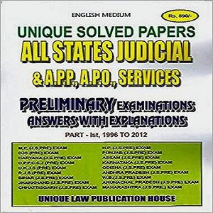 Unique Solved Papers All States Judicial Preliminary Examination
