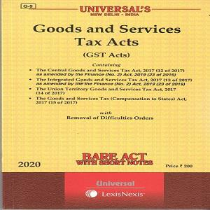Universal's Goods and Services Tax Acts (Bare Act) [2020]